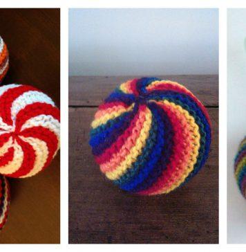 Easy Knit Swirl Ball Free Knitting Pattern