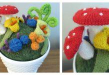 Fantasy Mini Garden Free Knitting Pattern