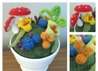 Fantasy Mini Garden Free Knitting Pattern