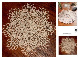 Flower Doily Free Knitting Pattern