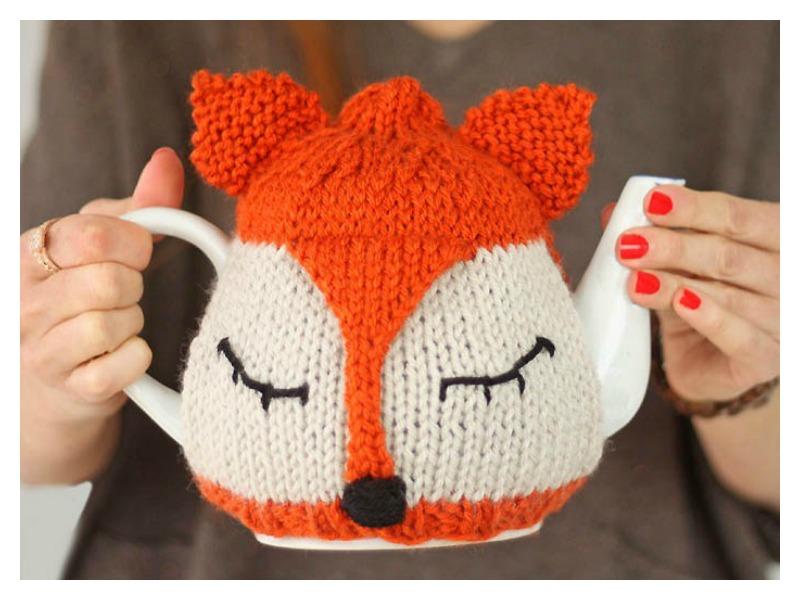 Fox Tea Cozy Free Knitting Pattern