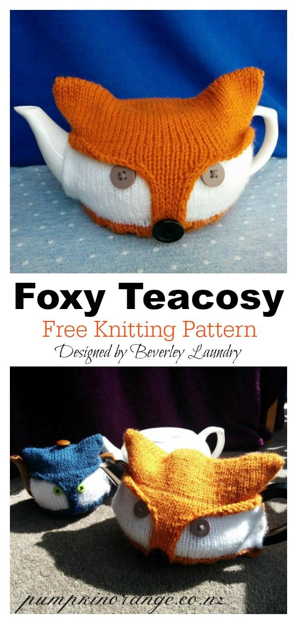 Foxy Teacosy Free Knitting Pattern