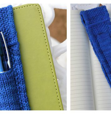 Journal Band with Pen Pocket Free Knitting Pattern