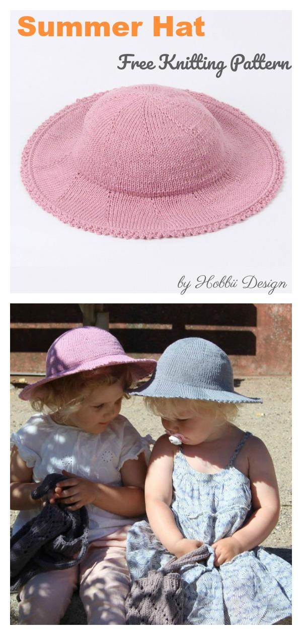 Kids Summer Hat Free Knitting Pattern