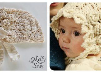 Lace Baby Bonnet Free Knitting Pattern