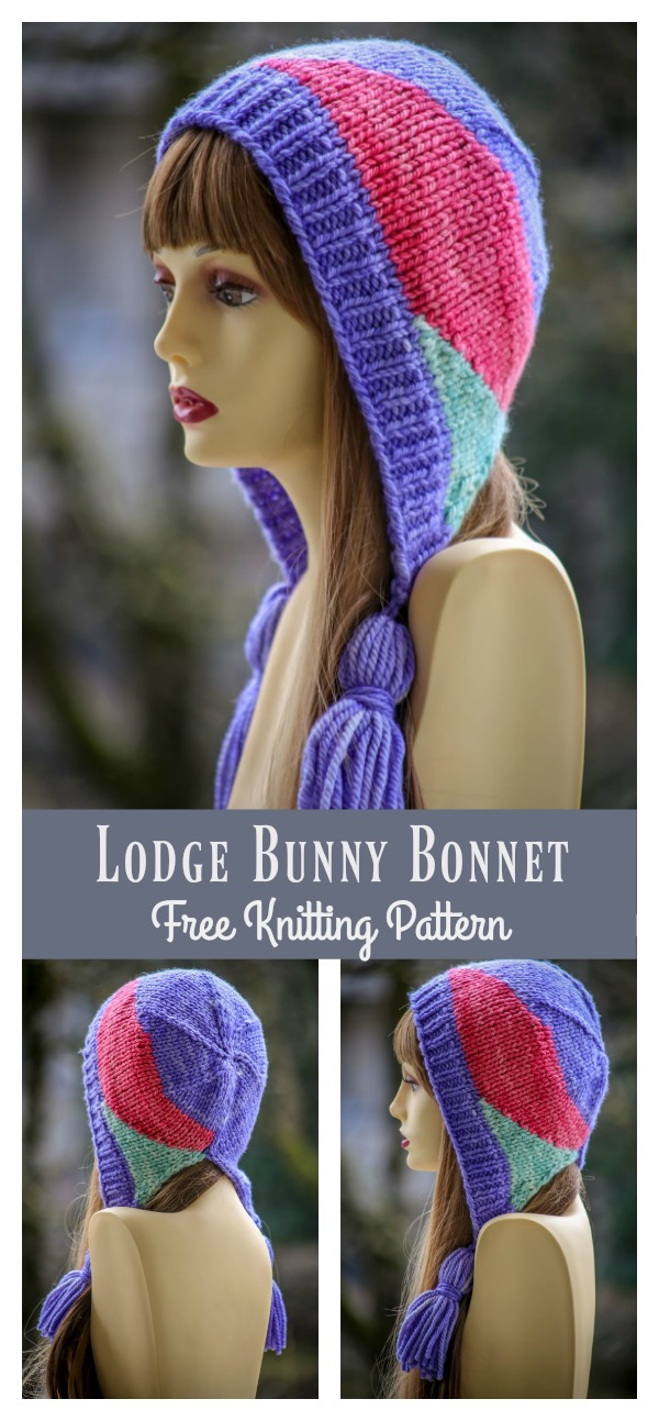 Lodge Bunny Bonnet Free Knitting Pattern