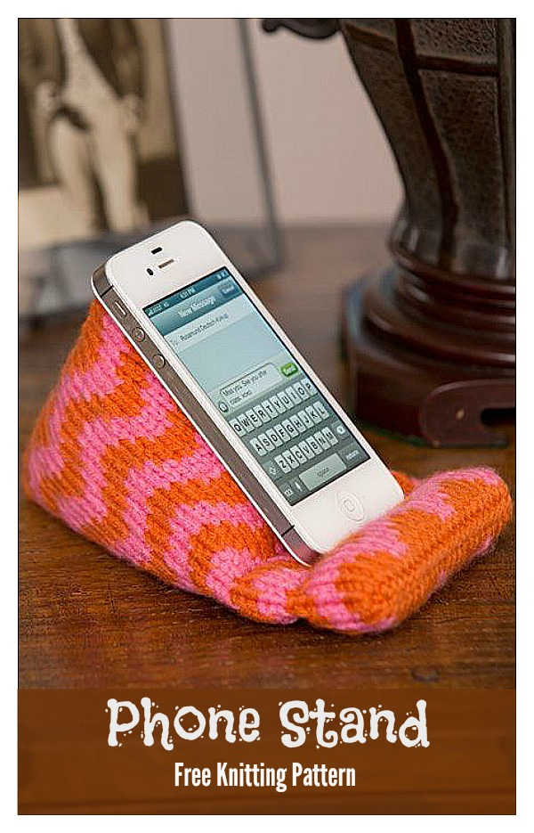 Phone Stand Free Knitting Pattern