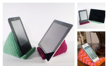 Phone or Tablet Stand Free Knitting Pattern