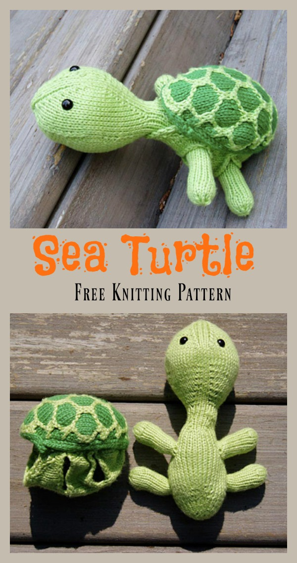 Sea Turtle Free Knitting Pattern