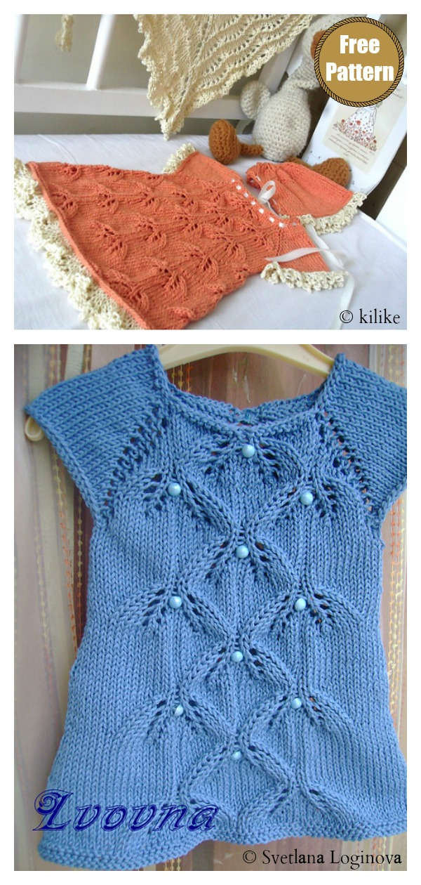 Sweet Bluebells Baby Sweater Free Knitting Pattern