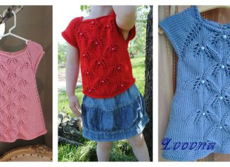 Sweet Bluebells Baby Sweater Free Knitting Pattern