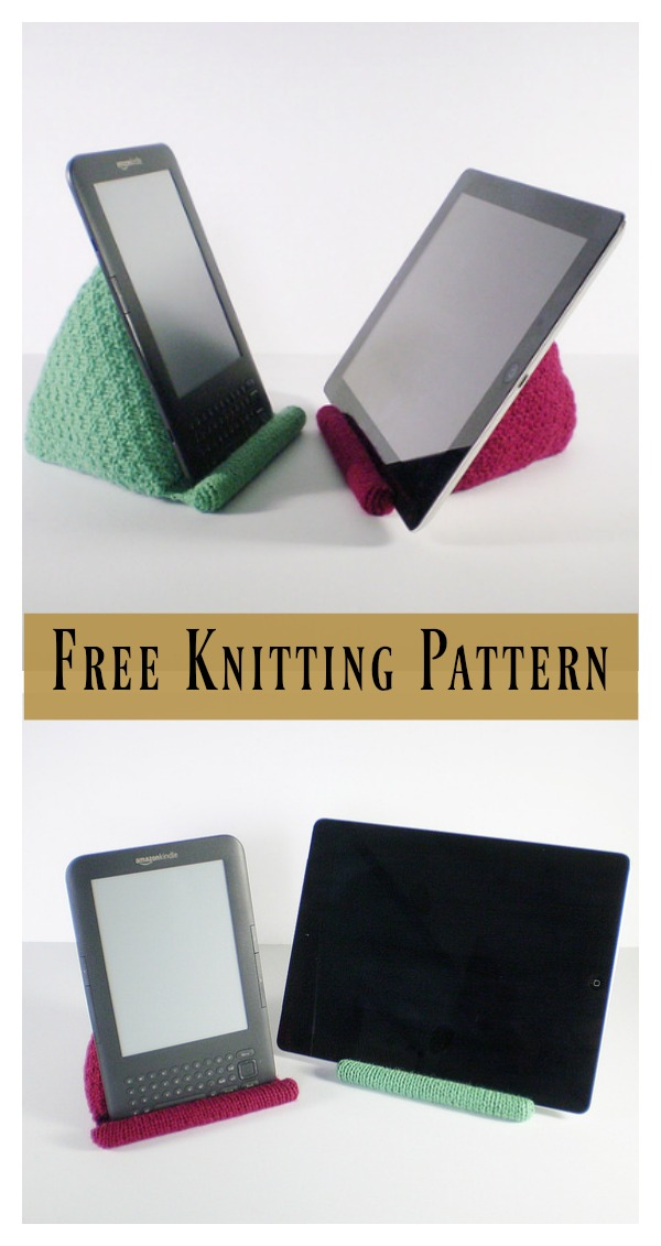 Tablet Stand Free Knitting Pattern