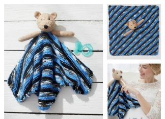 Teddy Bear Lovey Free Knitting Pattern