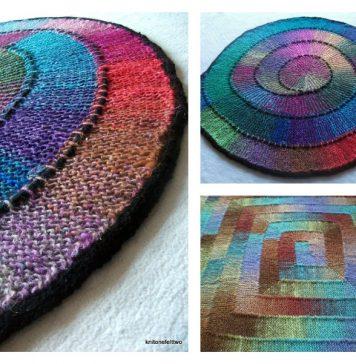 Ten Stitch Blanket Free Knitting Pattern