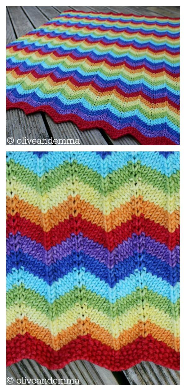 Western Hills Chevron Baby Blanket Free Knitting Pattern