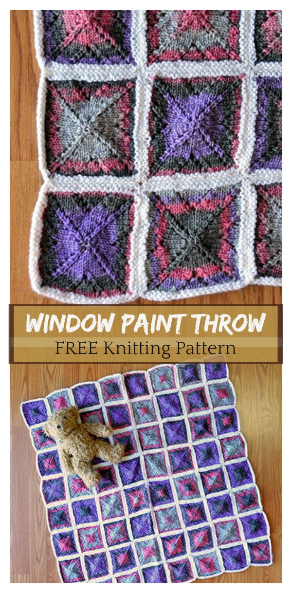 Window Paint Throw FREE Knitting Pattern