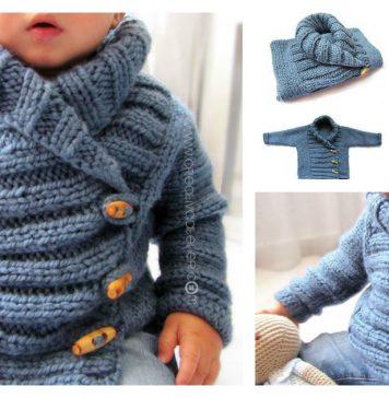 Baby Jacket Free Knitting Pattern