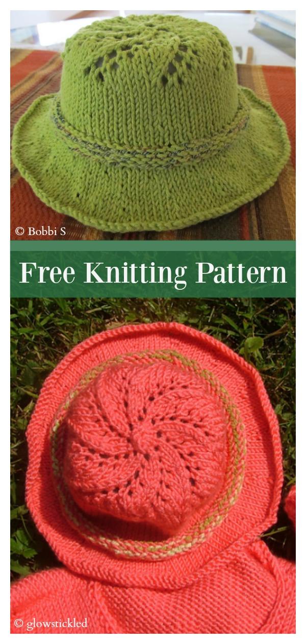 Baby Sun Hat Free Knitting Pattern