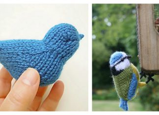 Blue Bird Free Knitting Pattern