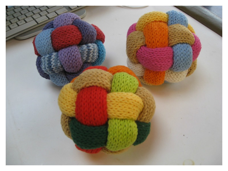 Braided Ball Free Knitting Pattern And Video Tutorial