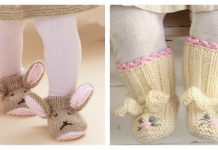 Bunny Baby Booties Free Knitting Pattern