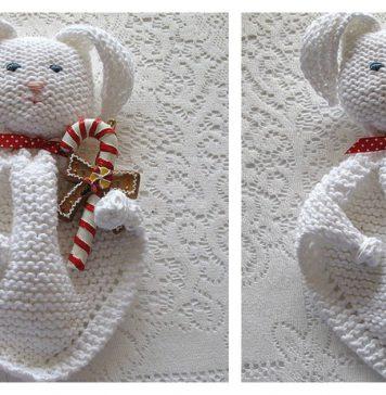 Bunny Blanket Buddy Free Knitting Pattern