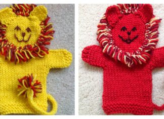 Cute Lion Hand Puppet Free Knitting Pattern