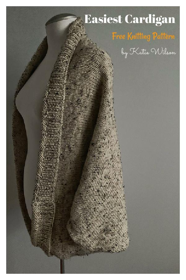 Easiest Cardigan Free Knitting Pattern