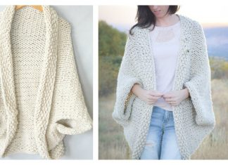Easy Blanket Sweater Free Knitting Pattern
