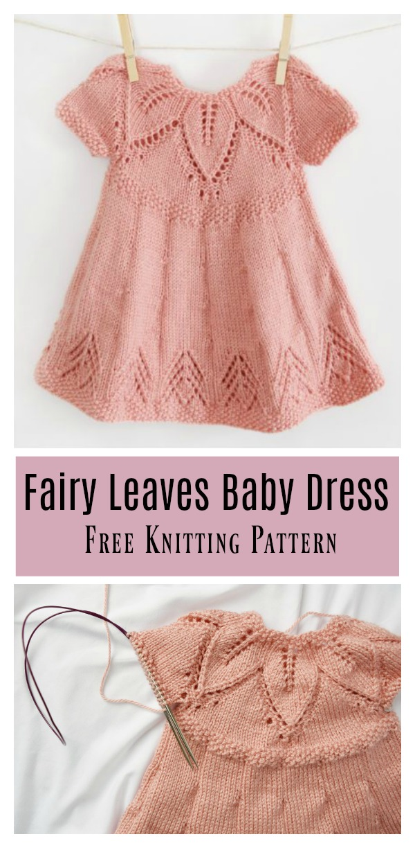 c8f074a3a Fairy Leaves Baby Dress Free Knitting Pattern