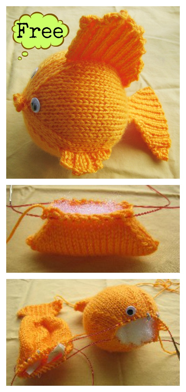 Goldfish Free Knitting Pattern