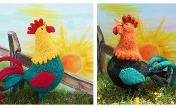 Good Morning Rooster Knitting Pattern