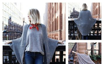 Lace Cocoon Summer Cardigan Free Knitting Pattern