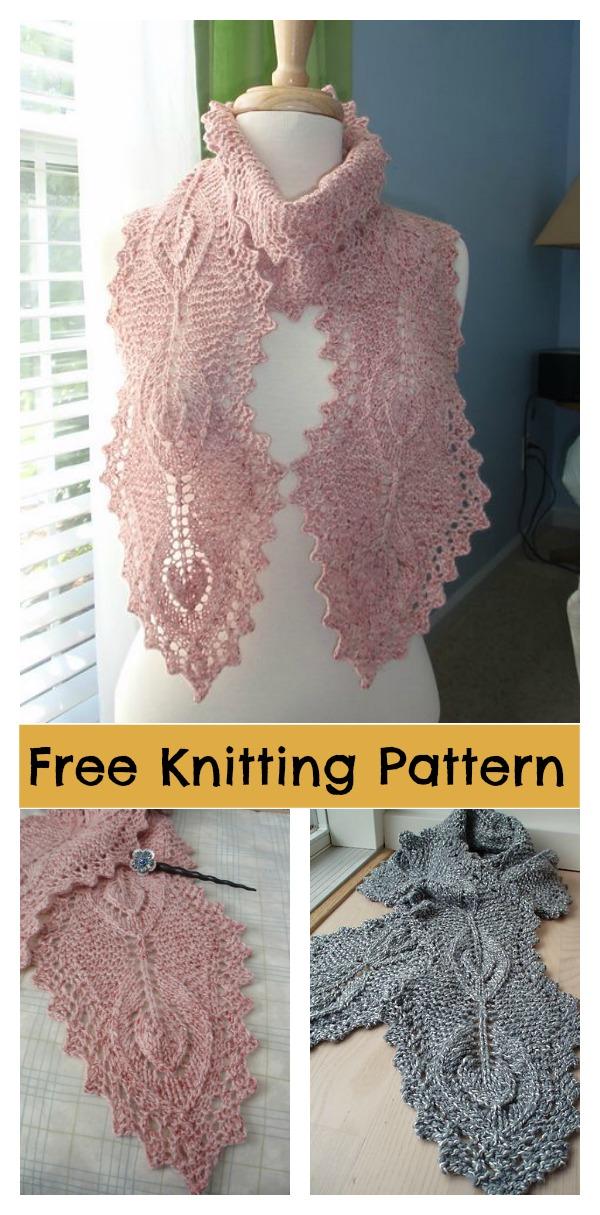 Lamina Lace Scarf Free Knitting Pattern