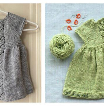 Leaf Love Baby Dress Free Knitting Pattern