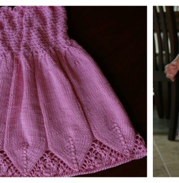 Little Girl Flora Dress Free Knitting Pattern