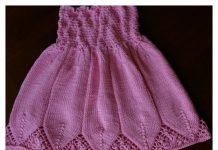 Little Girl Flora Dress Free Knitting Pattern