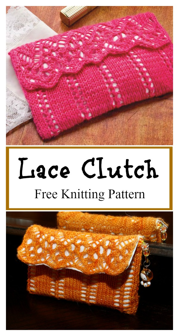 Lovely Lace Clutch Free Knitting Pattern