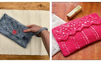 Lovely Lace Clutch Purse Free Knitting Pattern