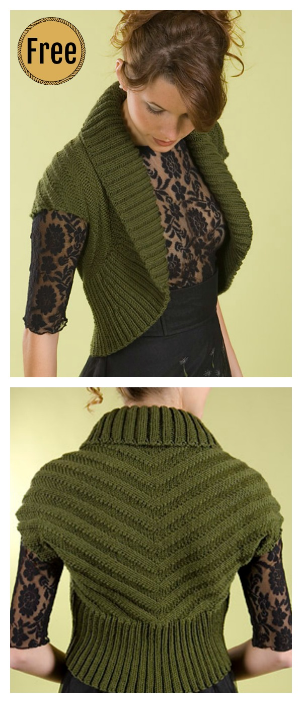 Shawl Collar Vest Free Knitting Pattern