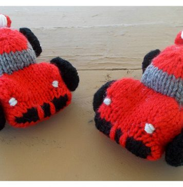 Sports Car Soft Toy Free Knitting Pattern