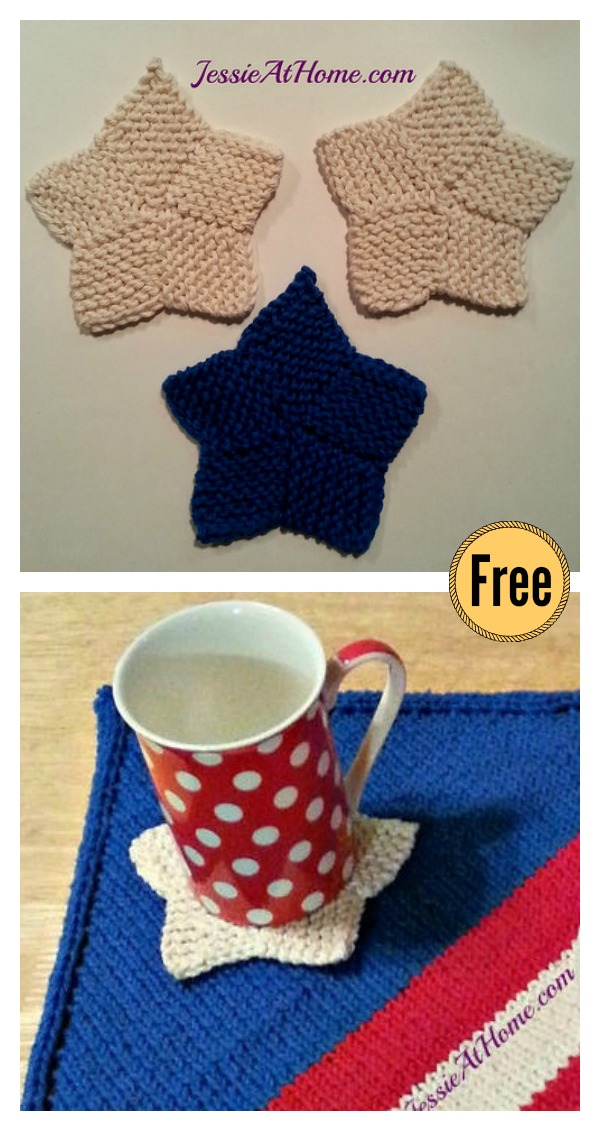 Star Coaster Free Knitting Pattern and Video Tutorial