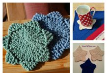 Star Coaster Free Knitting Pattern