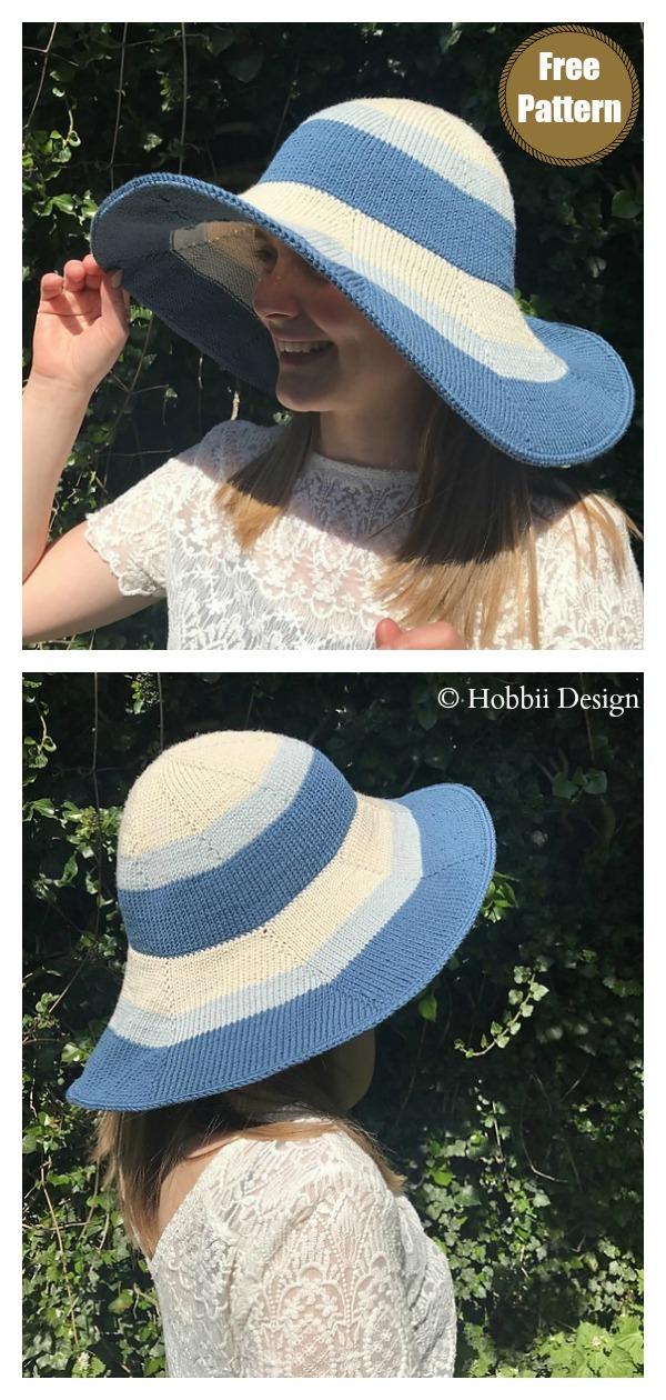 Summer Hat Free Knitting Pattern
