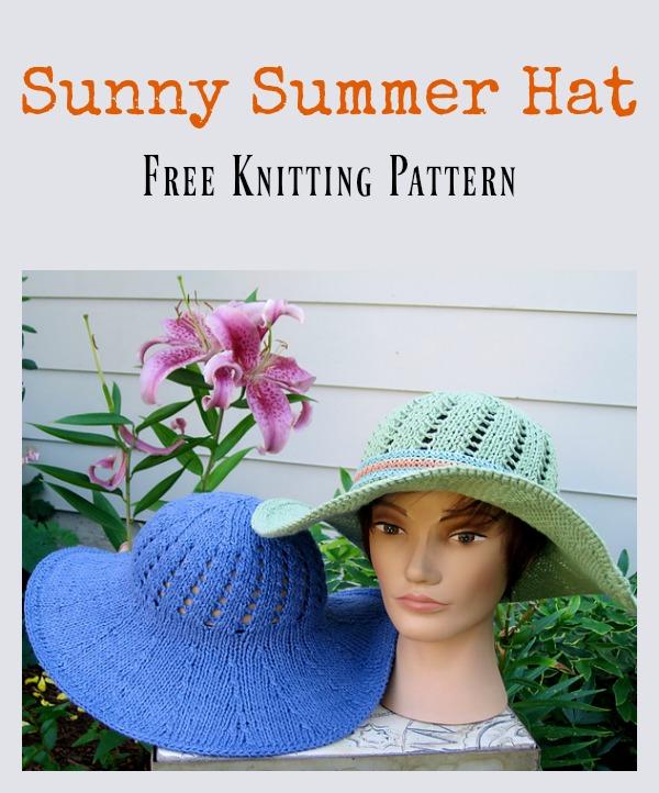 Sunny Summer Hat Free Knitting Pattern
