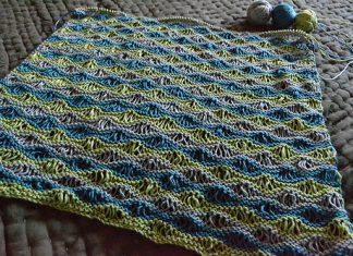 Sea Foam Wave Drop Stitch Baby Blanket Free Knitting Pattern