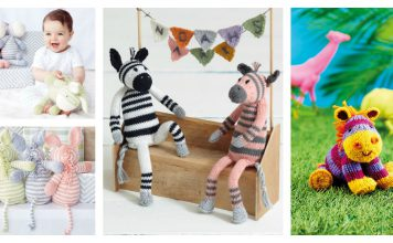 Zebra Soft Toy Free Knitting Pattern
