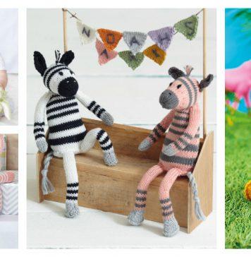 Zebra Soft Toy Free Knitting Pattern