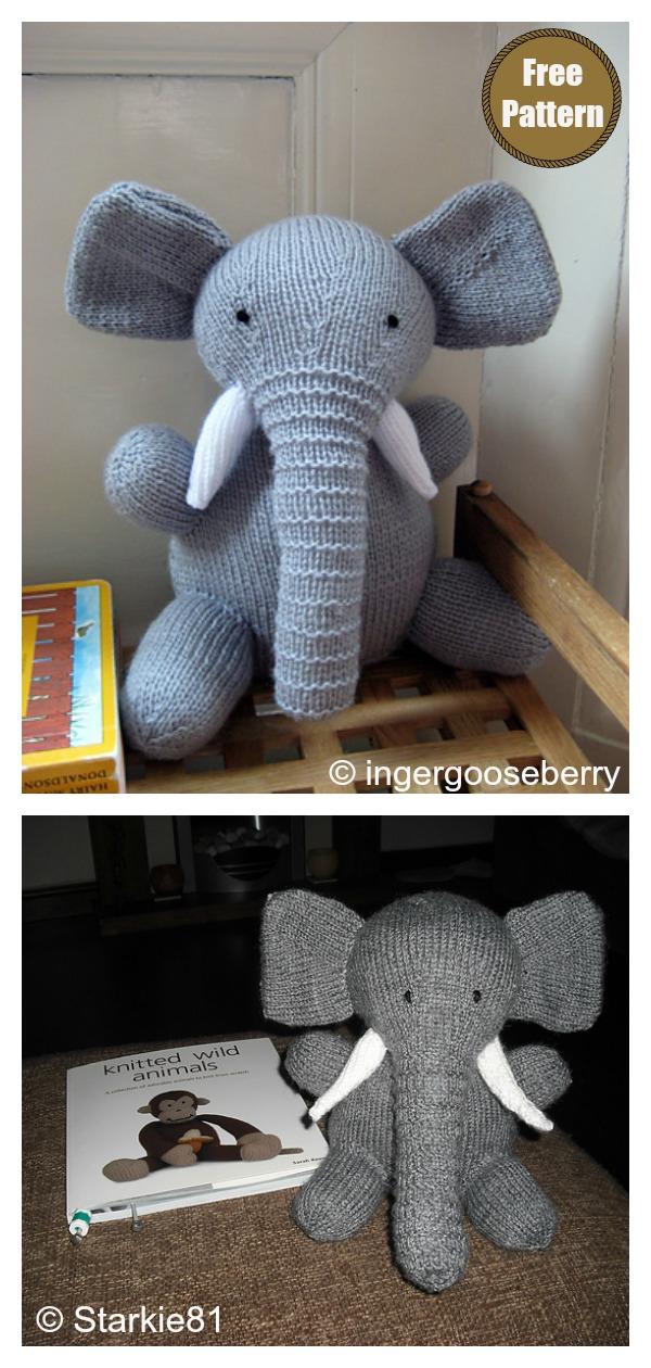 Amigurumi Elephant Free Knitting Pattern