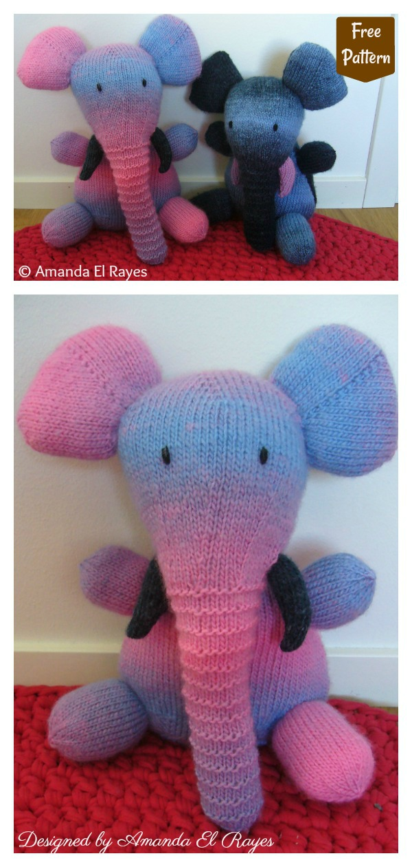 Amigurumi Fat Elephant Free Knitting Pattern